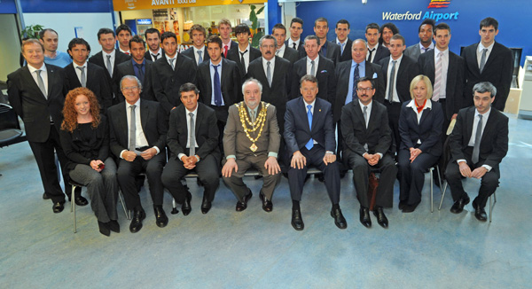 Spanish under 21 Soccer Team arrive at Waterford Airport